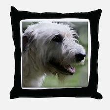 Content Irish Wolfhound Throw Pillow