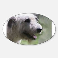Content Irish Wolfhound Oval Decal