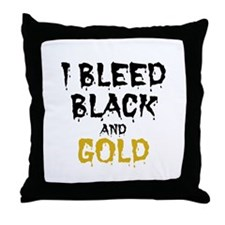 I Bleed Black & Gold Throw Pillow