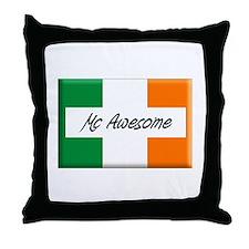 Mc Awesome Throw Pillow