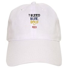 I Bleed Blue, Red, & Gold Baseball Cap
