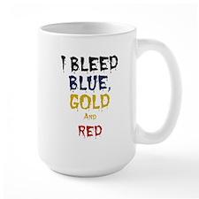 I Bleed Blue, Red, & Gold Mug