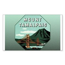 Mr. Tam Mount Tamalpais Rectangle Decal