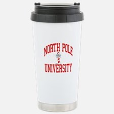 NORTH POLE UNIVERSITY Stainless Steel Travel Mug
