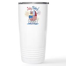 JULY BABY! (in stroller) Thermos Mug