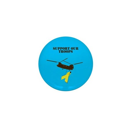 CH-47 Chinook Support our Troops Mini Button