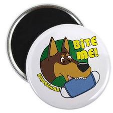 Bite Me Doberman Pinscher Magnet