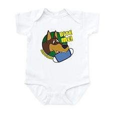 Bite Me Doberman Pinscher Infant Bodysuit