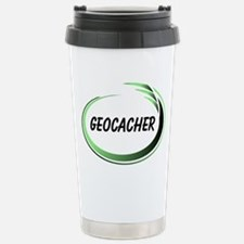Green Geocacher Pizzaz Stainless Steel Travel Mug