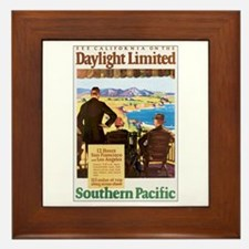 Southern Pacific CA Framed Tile