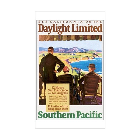 Southern Pacific CA Rectangle Sticker 10 pk)