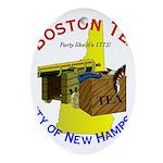 New Hampshire Oval Ornament