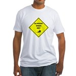 Slippery When Wet Fitted T-Shirt