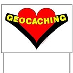 Geocaching Heart Yard Sign