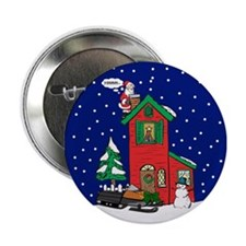 """A Snowmobile For Christmas 2.25"""" Button"""