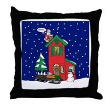 A Snowmobile For Christmas Throw Pillow
