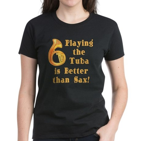 Playing the Tuba Women's Dark T-Shirt