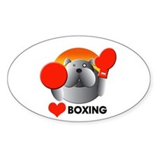 boxing Oval Decal