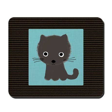 Grey Kitty Mousepad