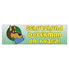 Doberman Schutzhund Bumper Bumper Sticker