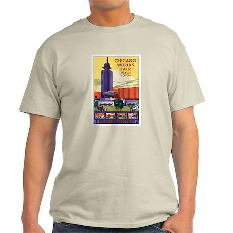 Chicago World's Fair 1933 Light T-Shirt