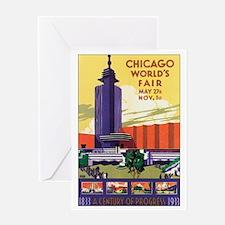 Chicago World's Fair 1933 Greeting Card