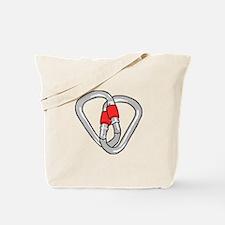 Interlocking Carabiners Tote Bag