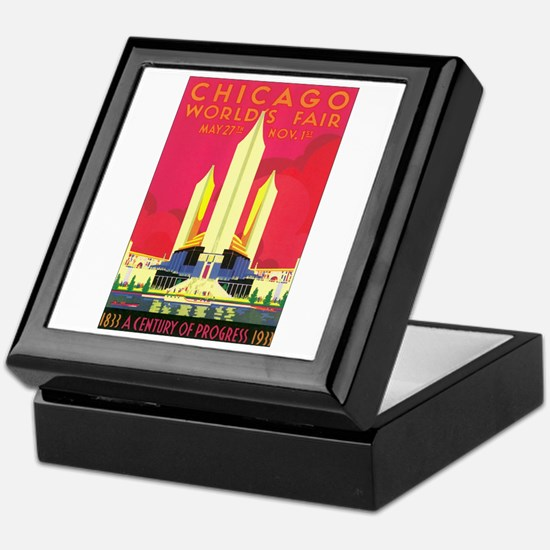Chicago World's Fair 1933 Keepsake Box