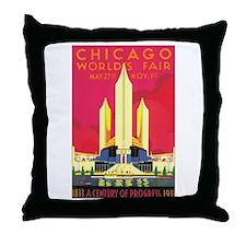 Chicago World's Fair 1933 Throw Pillow