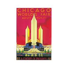 Chicago World's Fair 1933 Rectangle Magnet