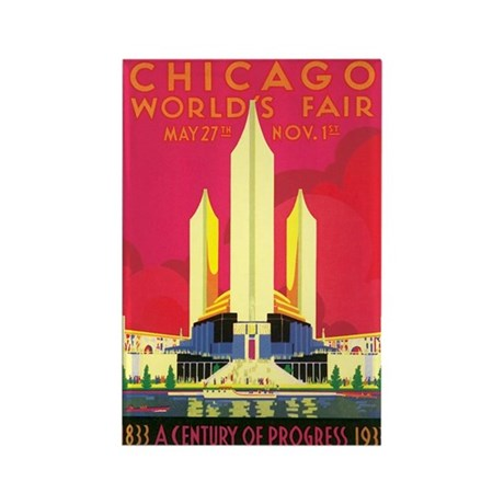 Chicago World's Fair 1933 Rectangle Magnet (100 pa