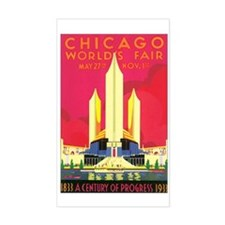 Chicago World's Fair 1933 Rectangle Decal