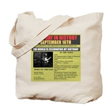 september 16th-birthday Tote Bag