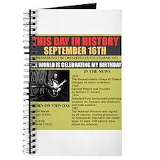september 16th-birthday Journal
