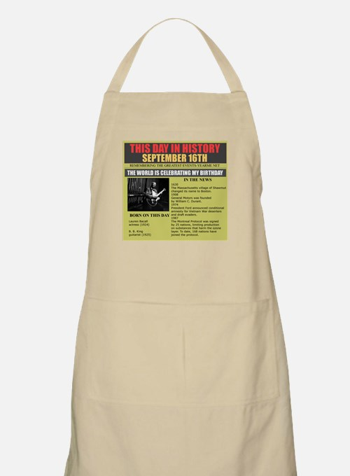 september 16th-birthday BBQ Apron