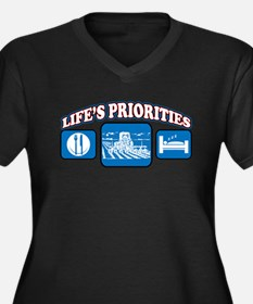 Life's Priorities Farming Women's Plus Size V-Neck