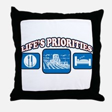 Life's Priorities Farming Throw Pillow