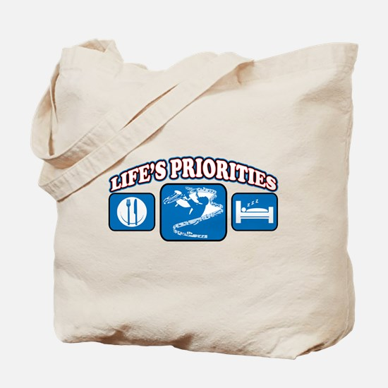 Life's Priorities Music Tote Bag