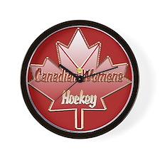 Canadian Womens hockey Wall Clock
