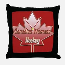 Canadian Womens hockey Throw Pillow
