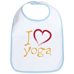 i love yoga Bib