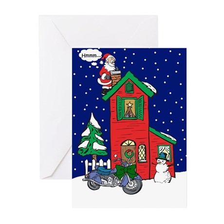 A Motorcycle For Christmas Greeting Cards (Pk of 1