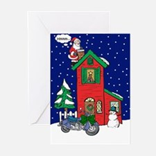A Motorcycle For Christmas Greeting Cards (Pk of 2