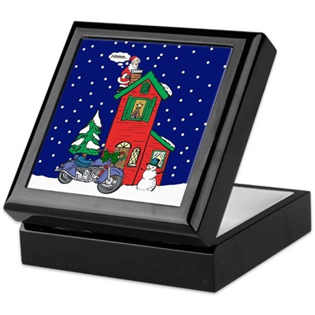 A Motorcycle For Christmas Keepsake Box