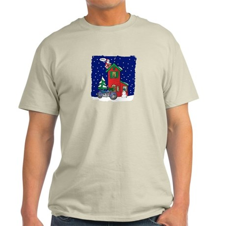A Motorcycle For Christmas Light T-Shirt