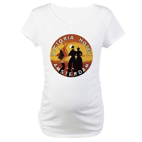 Victoria Hotel Amsterdam Maternity T-Shirt