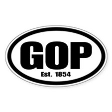 GOP Oval Sticker (50 pk)