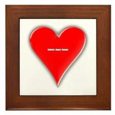 Of Hearts Framed Tile