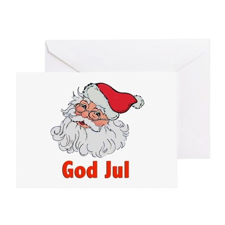 Scandanavian Santa Greeting Card