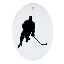 Hockey Player Keepsake (Oval)